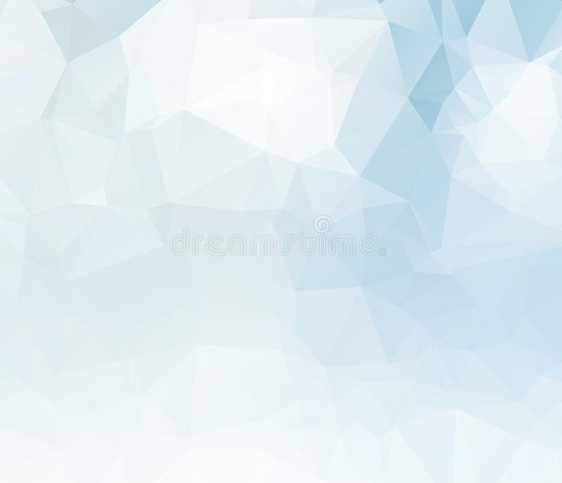 Lichtblauw vector onscherp driehoeksontwerp als achtergrond Geometrische achtergrond in Origamistijl met gradiënt vector illustratie