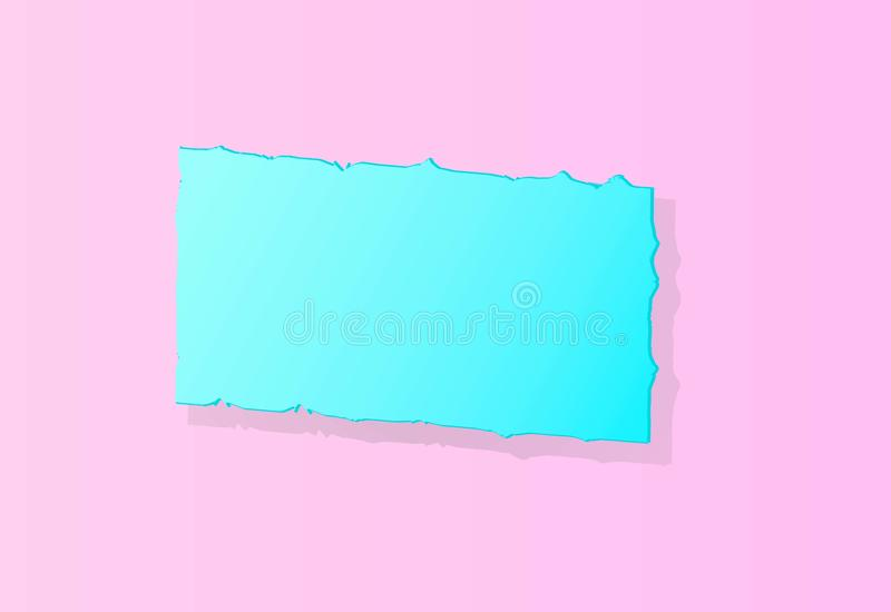 Lichtblauwe banner op een roze achtergrond vector illustratie