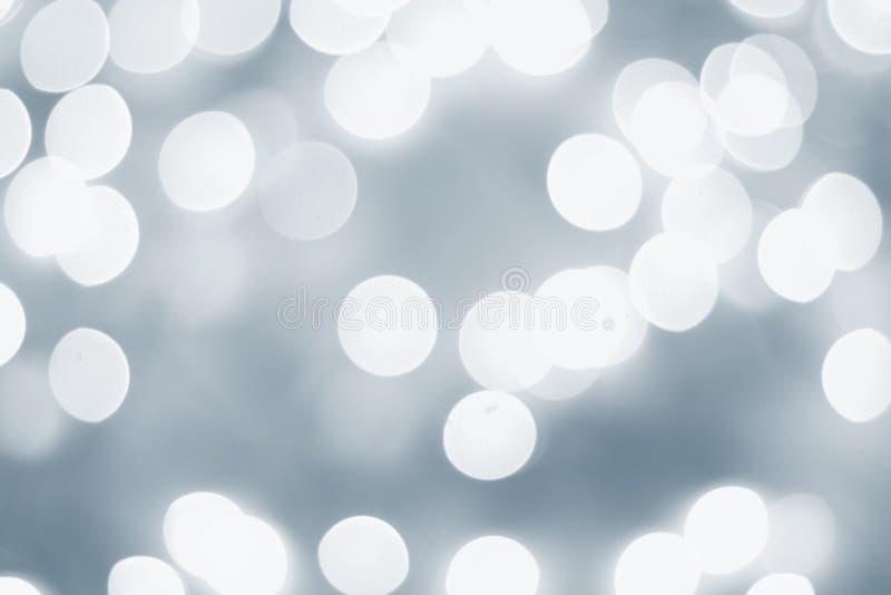 Lichtblauwe bokeh royalty-vrije stock afbeeldingen