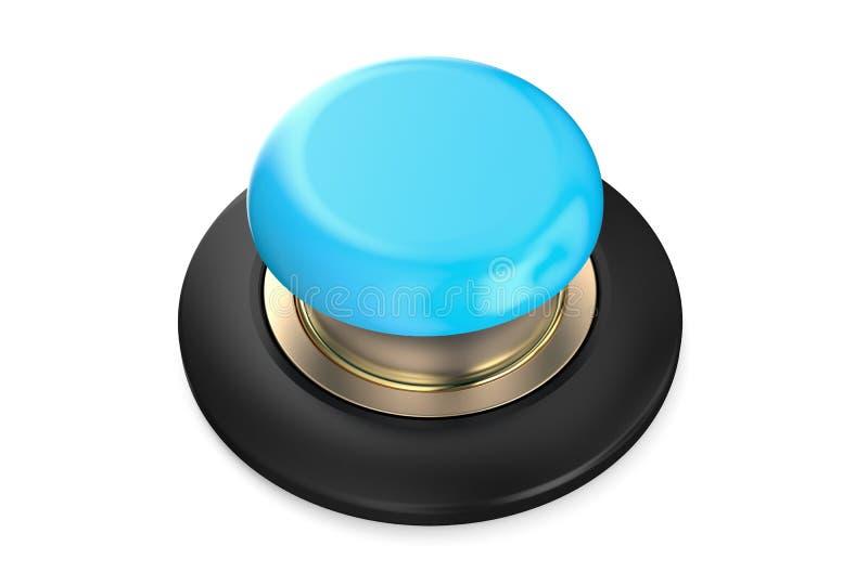 Lichtblauwe drukknop vector illustratie