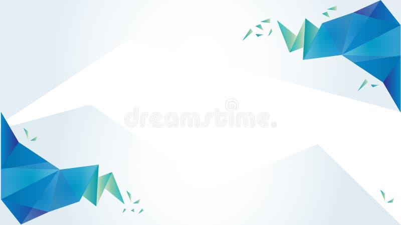 Lichtblauwe en groene vector lage polytextuur Abstracte illustratie met elegant ontwerp Malplaatje voor lay-out, dekking, present stock illustratie