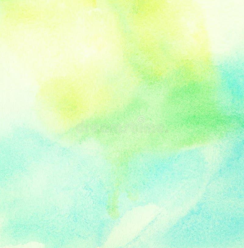 Lichtblauwe geschilderde waterverfachtergrond stock illustratie