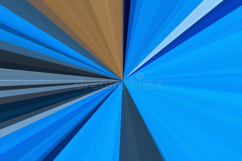 Lichtblauwe gloedstraal als achtergrond heldere capri royalty-vrije illustratie