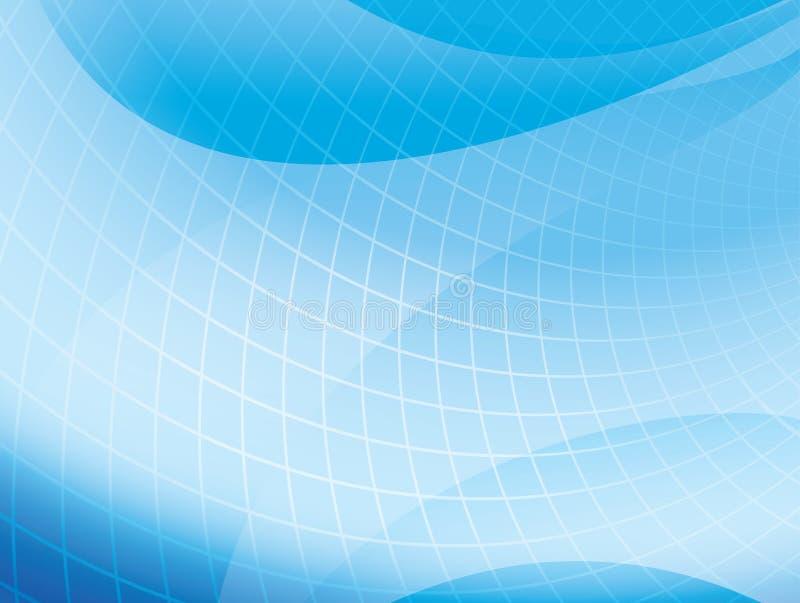Lichtblauwe golvende achtergrond met net - vector royalty-vrije illustratie