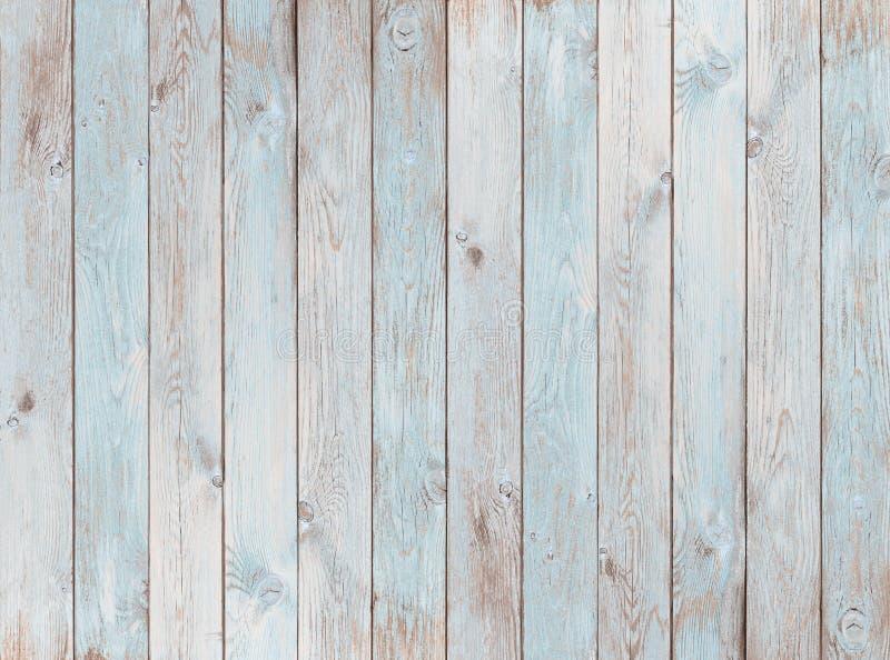 Lichtblauwe houten plankentextuur of achtergrond stock fotografie