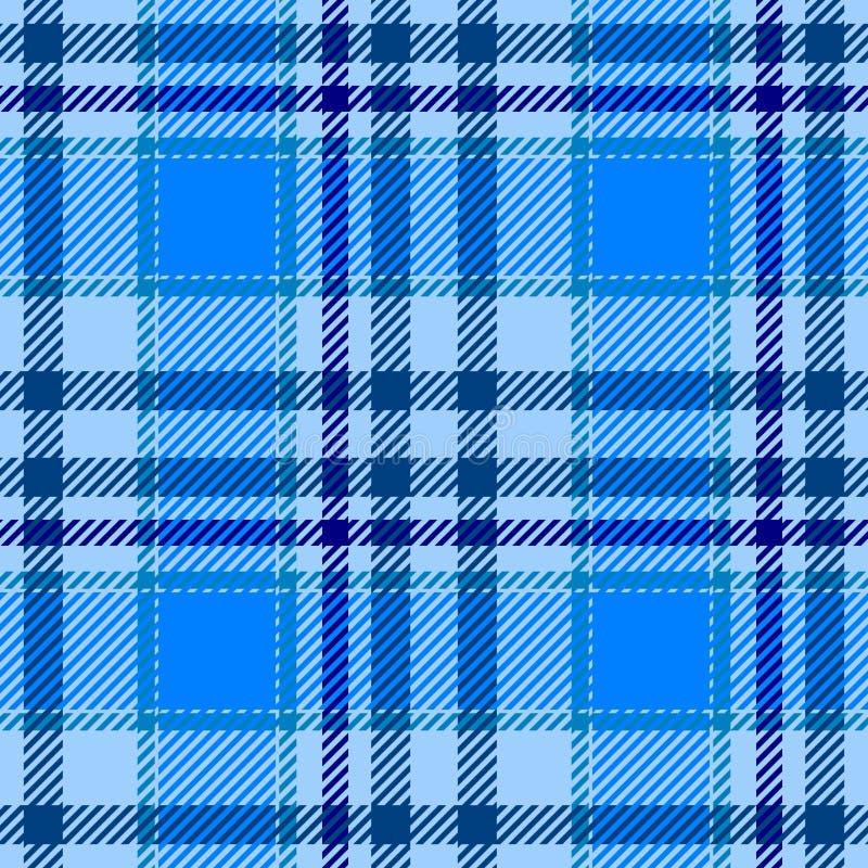 Lichtblauwe naadloze het patroontextuur van de geruit Schots wollen stofplaid royalty-vrije illustratie