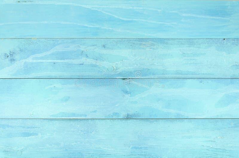 Lichtblauwe oude houten lijst als achtergrond, hoogste mening Rustieke houten muurtextuur Oppervlakte met oud geschilderd houten  stock foto