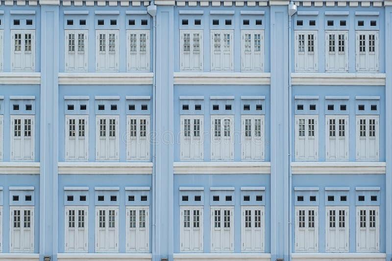 Lichtblauwe pastelkleur van vensters, abstracte patroonachtergrond royalty-vrije stock foto