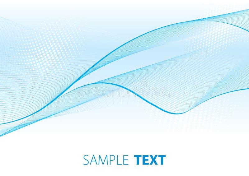 Lichtblauwe sluier stock illustratie