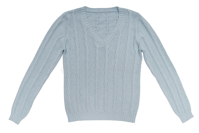 Lichtblauwe sweater royalty-vrije stock fotografie