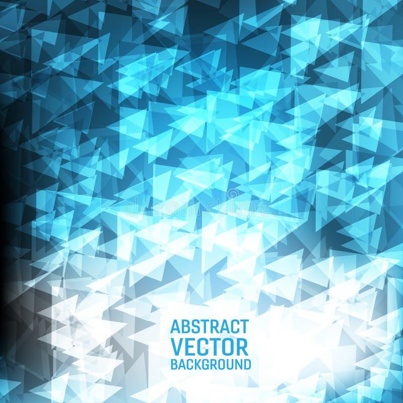 Lichtblauwe vector geometrische abstracte achtergrond Nieuw veelhoekig textuurontwerp als achtergrond voor uw zaken stock illustratie