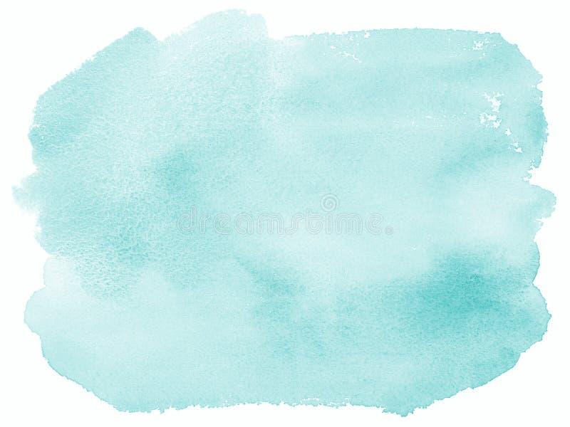 Lichtblauwe Waterverf Geschilderde Hand Als achtergrond vector illustratie