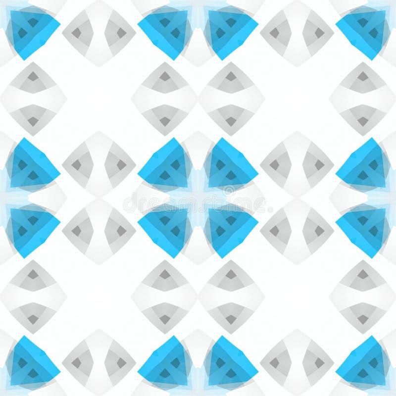 Lichtblauwe witte grijze abstracte textuur Naadloze tegel Eenvoudige Illustratie Als achtergrond Textieldrukpatroon De stof DE va royalty-vrije illustratie