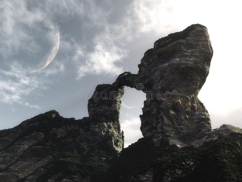 Lichtbogen-geformter Berg stock abbildung