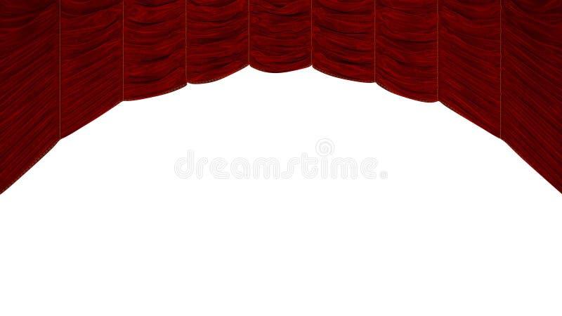 Lichtbogen-geformter roter Trennvorhang stock abbildung