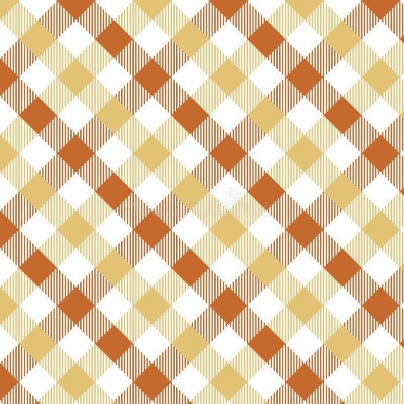 Lichtbruin Gingangpatroon Textuur van ruit/vierkanten voor - plaid, tafelkleden, kleren, overhemden, kleding, document, beddegoed royalty-vrije illustratie