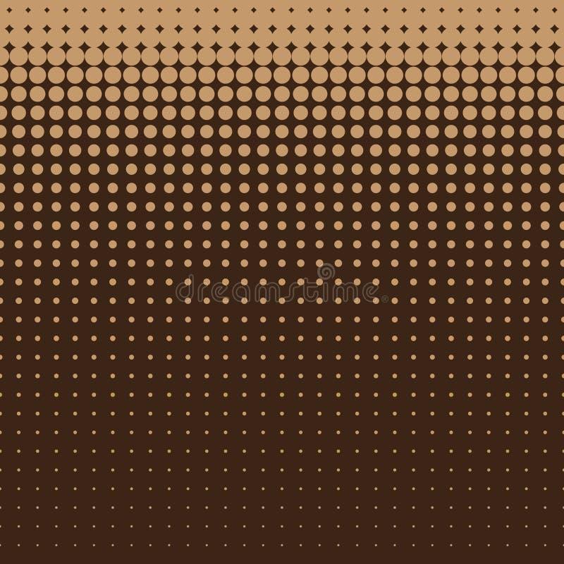 Lichtbruin halftone punten naadloos patroon op bruine achtergrond, gebruik voor behang, patroon, Web-pagina achtergrond, texturen stock illustratie