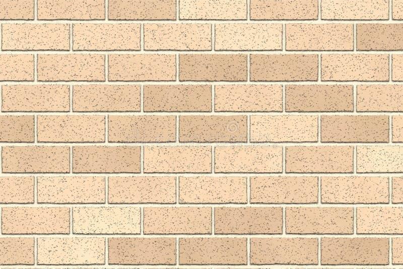 Lichtbruine bakstenen muur abstracte achtergrond Textuur van bakstenen Vector illustratie Malplaatjeontwerp voor Webbanners royalty-vrije illustratie