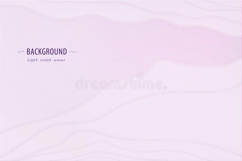 Lichte abstracte achtergrond met lagen zoals golven in vector royalty-vrije illustratie