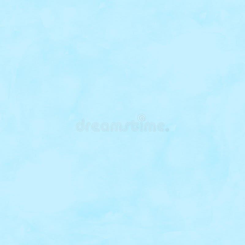 Lichte abstracte naadloze het patroonachtergrond van de wintertalings blauwe waterverf royalty-vrije illustratie