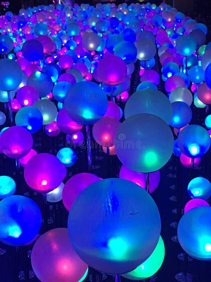 Lichte bel bij Nacht in Hong Kong royalty-vrije stock foto's