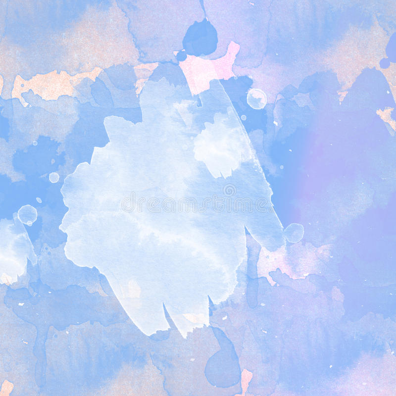 Lichte en blauwe waterverfachtergrond royalty-vrije stock afbeelding