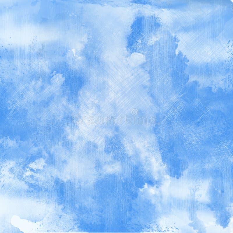 Lichte en blauwe waterverfachtergrond stock afbeelding