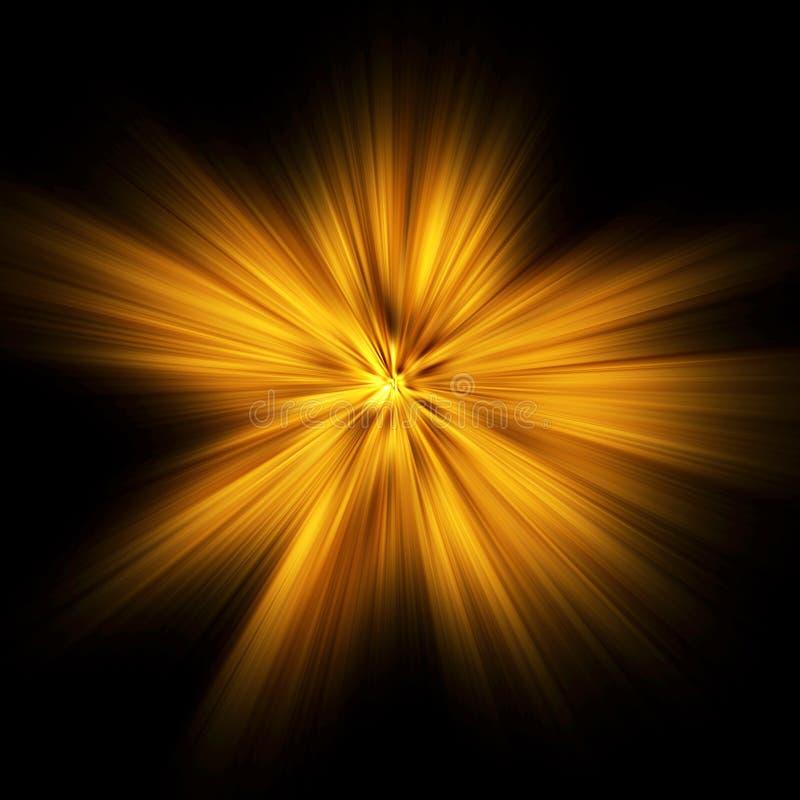 Lichte explosie stock afbeelding