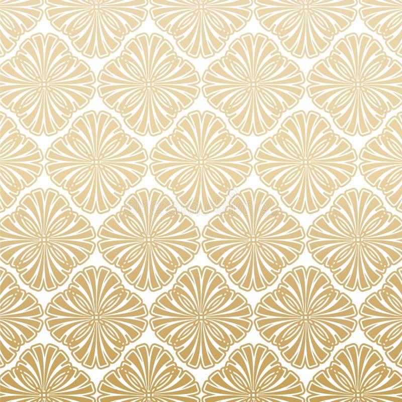 Lichte Gatsby Art Deco Pattern Background Design royalty-vrije illustratie
