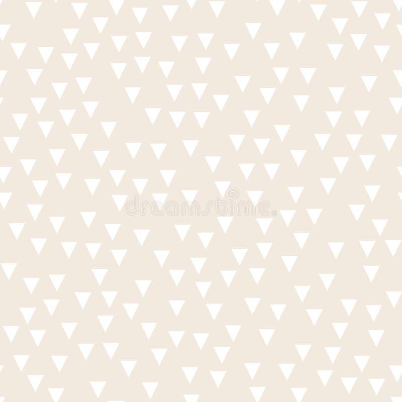 Lichte geometrische achtergrond met driehoeken Naadloos patroon Twee beige en witte kleuren Vector illustratie vector illustratie