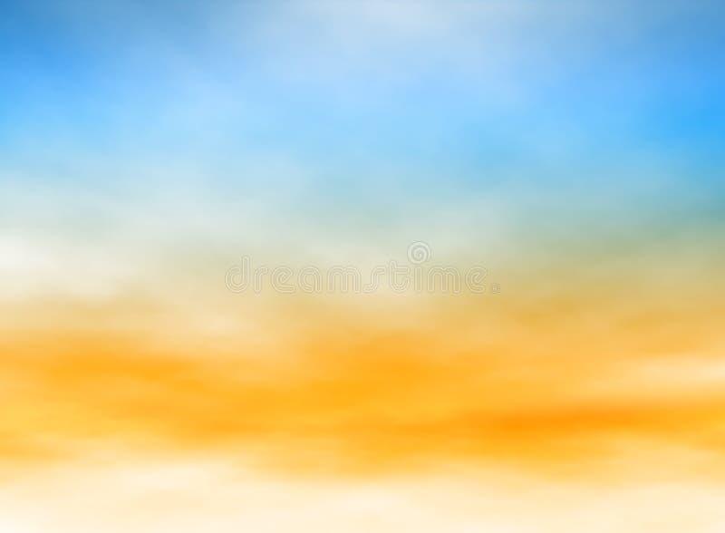 Lichte hemel stock illustratie