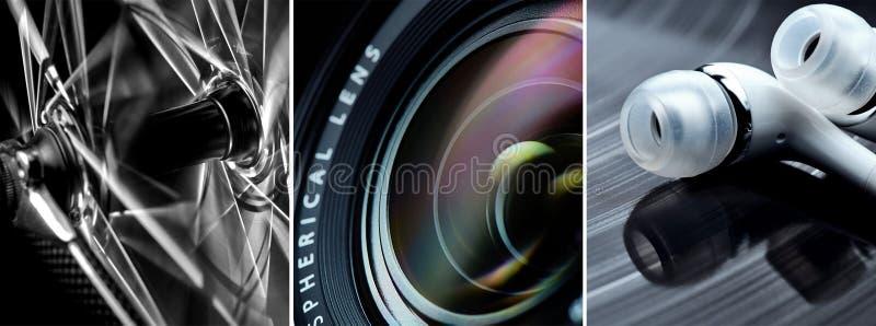 Lichte het schilderen voorbeelden stock foto