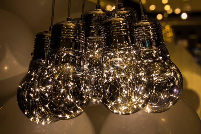 Lichte lampen op witte ballon royalty-vrije stock afbeelding