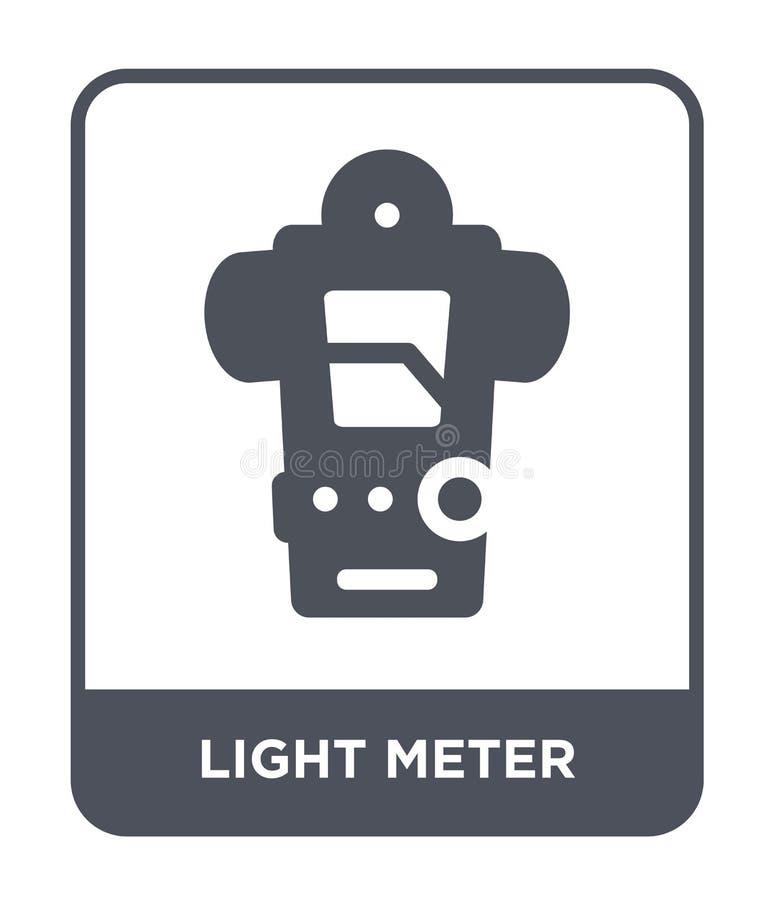 lichte meterpictogram in in ontwerpstijl lichte die meterpictogram op witte achtergrond wordt geïsoleerd lichte eenvoudig en mode vector illustratie