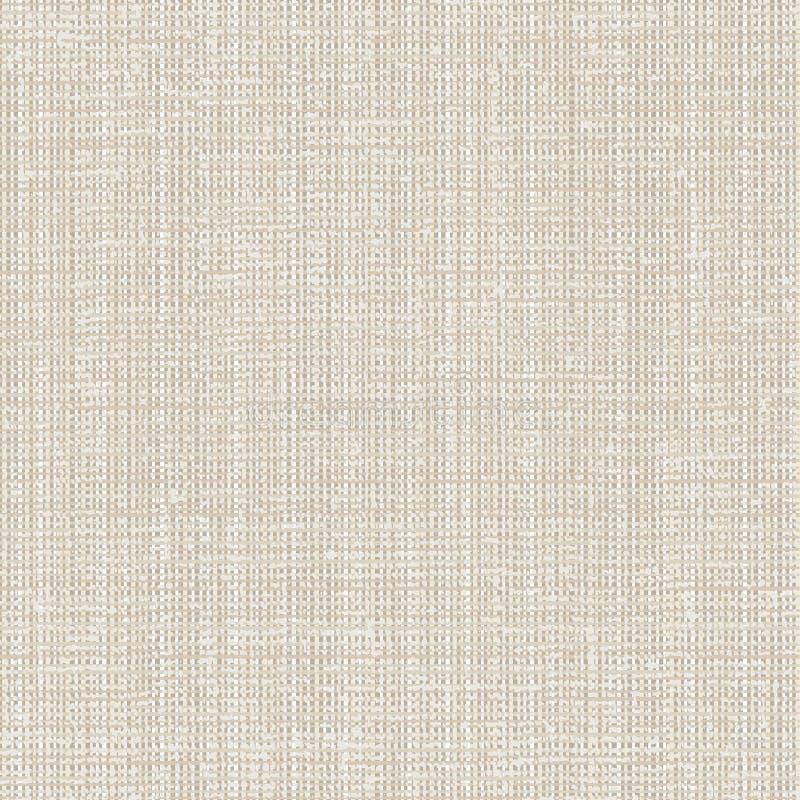 Naadloze de textuur van het canvas vector illustratie