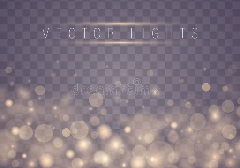 Lichte samenvatting bokeh vector illustratie
