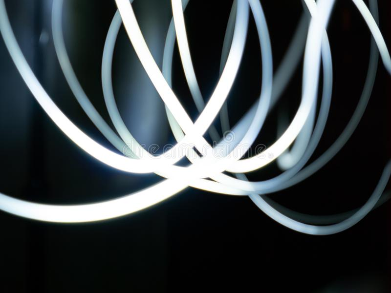Lichte slepen - het lichte schilderen stock afbeeldingen