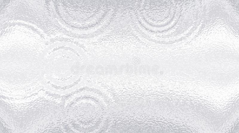 Lichte steenoppervlakte Berijpt glas rimpeling Witte grijze gradiëntachtergrond vector illustratie