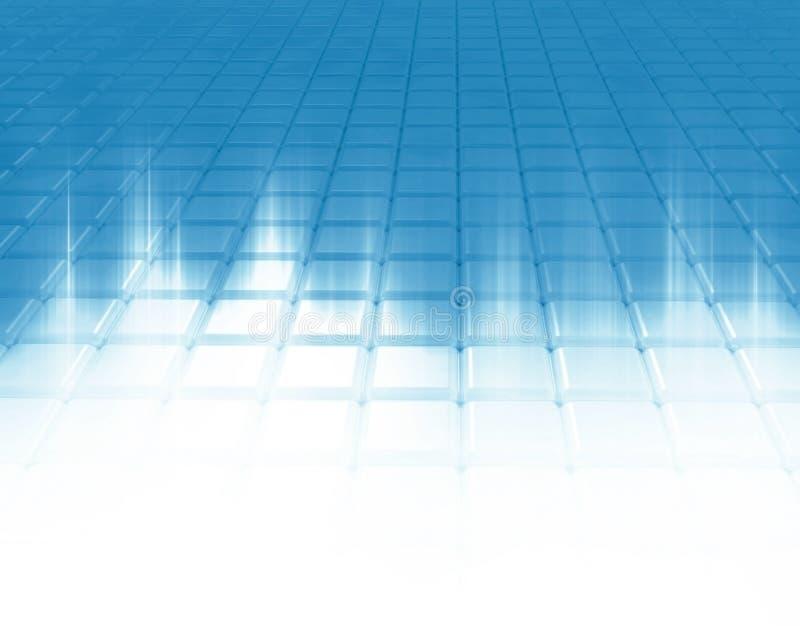 Lichte stralen op een wit net. stock illustratie