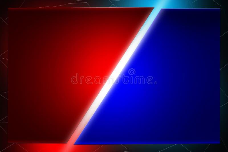 Lichte strijd en gelijke rode en blauwe vermaakachtergrond royalty-vrije illustratie