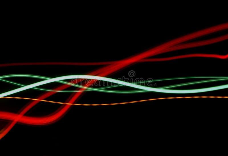 Lichte stromen stock illustratie