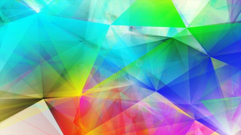 Lichte Veelkleurige veelhoekige illustratie, wat uit driehoeken bestaan Driehoekig patroon voor uw bedrijfsontwerp stock illustratie