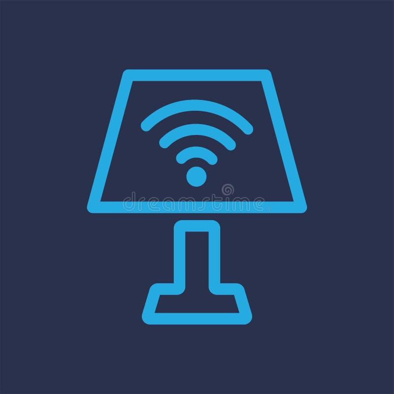 Lichte Wifi Blauw Logo Vector royalty-vrije illustratie