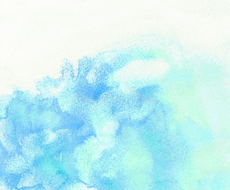 Lichte wolk en hemelwaterverfachtergrond stock illustratie