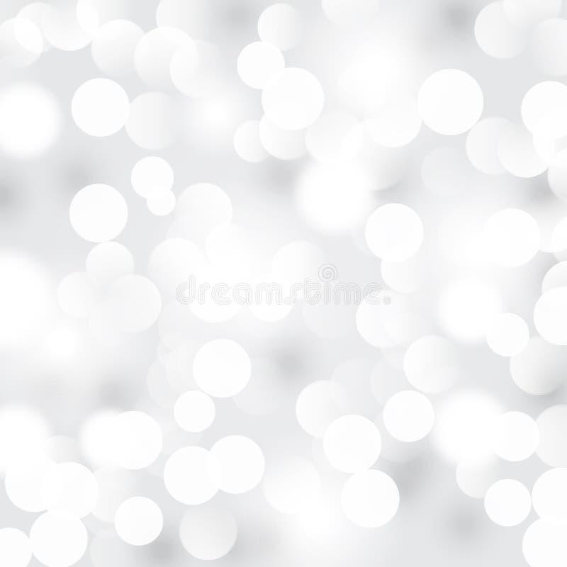 Lichte zilveren abstracte achtergrond royalty-vrije illustratie