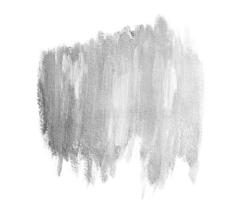 Lichte zilveren penseelstrekenbanner royalty-vrije stock fotografie