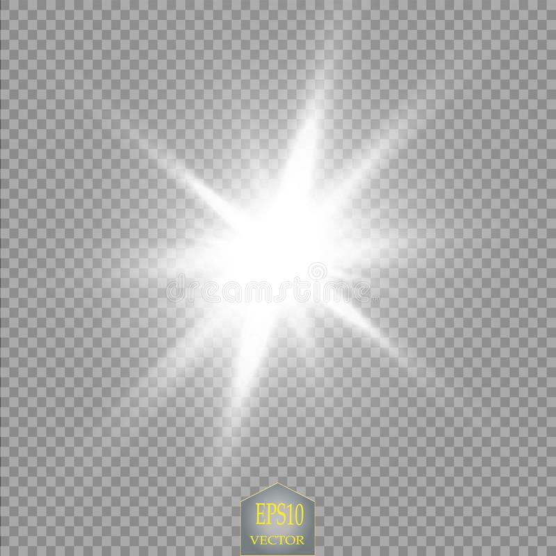 Lichteffekt des Glühens Stern-Explosion mit Scheinen Sun Kosmische Zusammenfassung der Energieenergie-Neonlichter vektor abbildung