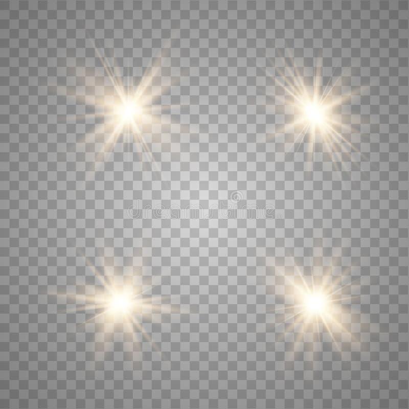 Lichteffekt des Gl?hens stock abbildung