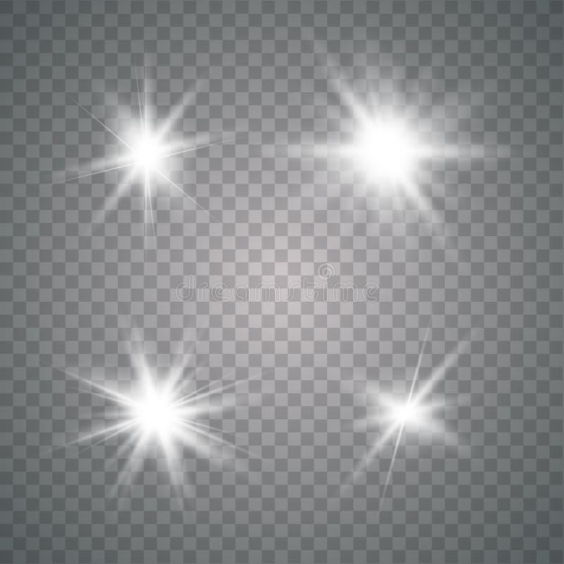 Lichteffekt des Gl?hens vektor abbildung