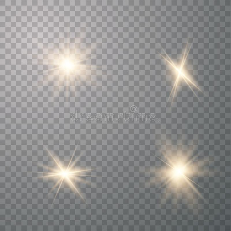 Lichteffekt des Gl?hens lizenzfreie abbildung